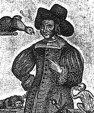 Mary Frith in old age.  She kept many animals for pets.