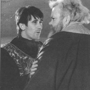 Keith Baxter (Prince Hal) and Orson Welles