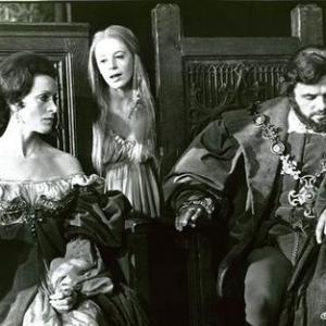 Gertrude, Ophelia, and Claudius (Anthony Hopkins)