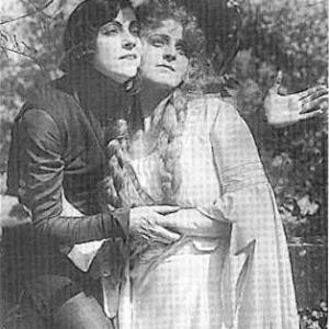 Post Card Asta Nielsen as Hamlet and Lilli Jacobson as Ophelia